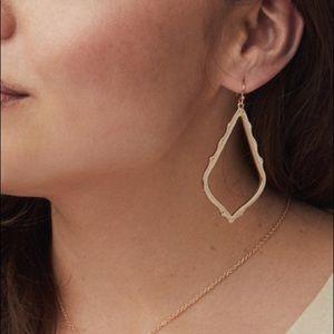 Kendra Scott Sophee Gold OPEN Drop Earrings Gold